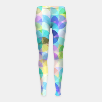 Thumbnail image of Blue Bubbles Girl's leggings, Live Heroes