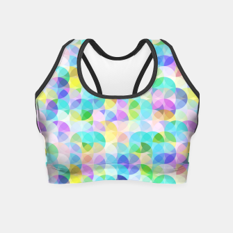 Thumbnail image of Blue Bubbles Crop Top, Live Heroes
