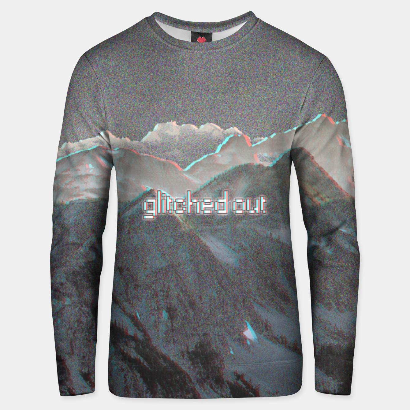 Image de glitched out Unisex sweater - Live Heroes