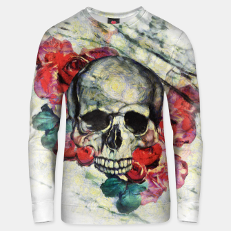 Thumbnail image of Roses and Skull  Unisex sweater, Live Heroes