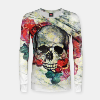 Thumbnail image of Roses and Skull  Women sweater, Live Heroes