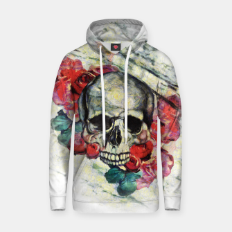Thumbnail image of Roses and Skull  Hoodie, Live Heroes