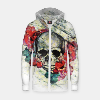 Thumbnail image of Roses and Skull  Zip up hoodie, Live Heroes