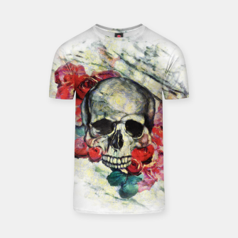 Thumbnail image of Roses and Skull  T-shirt, Live Heroes