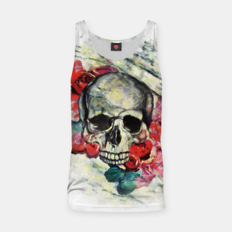 Thumbnail image of Roses and Skull  Tank Top, Live Heroes