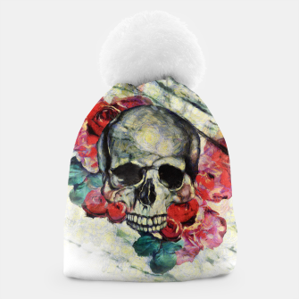 Thumbnail image of Roses and Skull  Beanie, Live Heroes