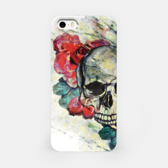 Thumbnail image of Roses and Skull  iPhone Case, Live Heroes