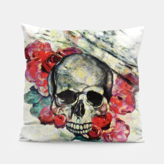 Thumbnail image of Roses and Skull  Pillow, Live Heroes
