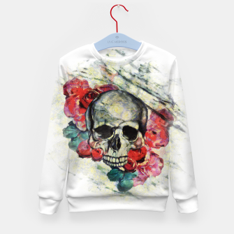 Thumbnail image of Roses and Skull  Kid's sweater, Live Heroes
