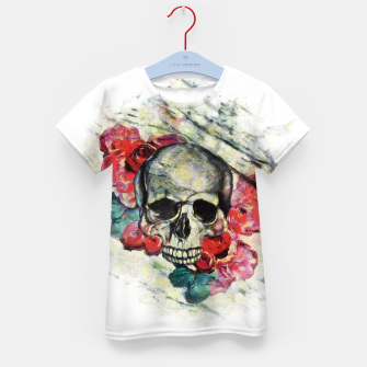 Thumbnail image of Roses and Skull  Kid's t-shirt, Live Heroes