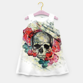 Thumbnail image of Roses and Skull  Girl's summer dress, Live Heroes