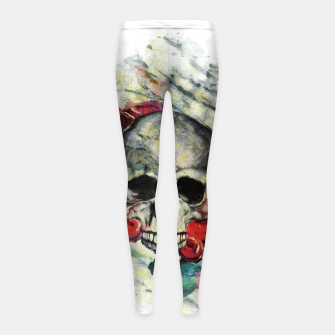 Thumbnail image of Roses and Skull  Girl's leggings, Live Heroes