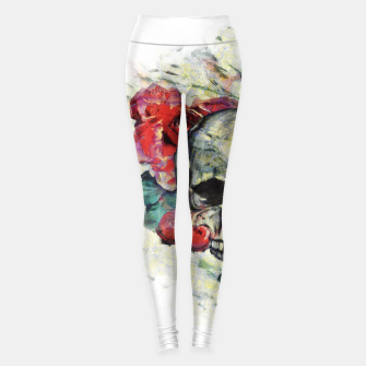 Thumbnail image of Roses and Skull  Leggings, Live Heroes