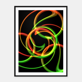 Miniatur Cyclical Loops Framed poster, Live Heroes