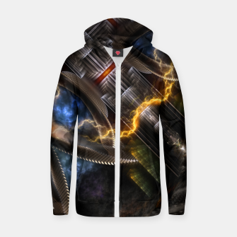 Thumbnail image of Time Storm Zip up hoodie, Live Heroes
