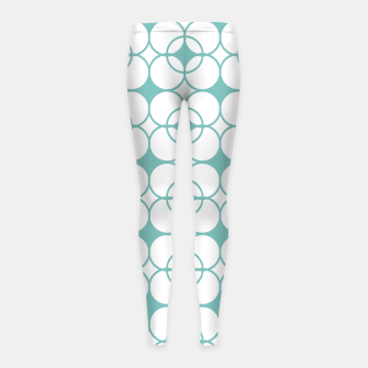 Imagen en miniatura de Abstract pattern - blue and white. Girl's leggings, Live Heroes