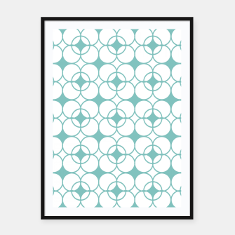 Imagen en miniatura de Abstract pattern - blue and white. Framed poster, Live Heroes