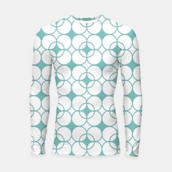 Imagen en miniatura de Abstract pattern - blue and white. Longsleeve rashguard , Live Heroes