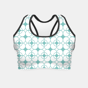 Imagen en miniatura de Abstract pattern - blue and white. Crop Top, Live Heroes