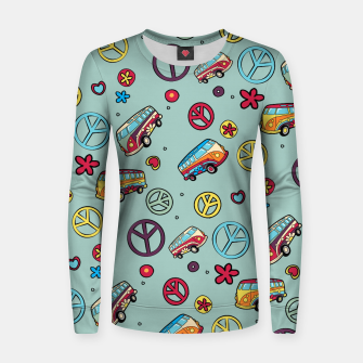 Retro  Hippie  Pattern  Women sweater imagen en miniatura