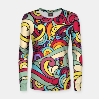 Thumbnail image of Colorful Hippie Swirl Pattern Women sweater, Live Heroes