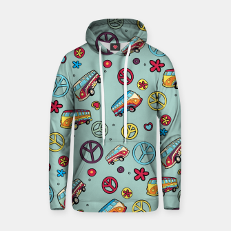 Thumbnail image of Retro  Hippie  Pattern  Hoodie, Live Heroes