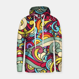Thumbnail image of Colorful Hippie Swirl Pattern Hoodie, Live Heroes