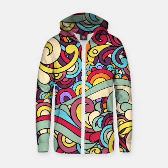 Thumbnail image of Colorful Hippie Swirl Pattern Zip up hoodie, Live Heroes