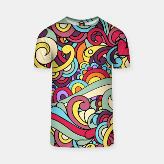 Thumbnail image of Colorful Hippie Swirl Pattern T-shirt, Live Heroes