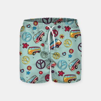 Retro  Hippie  Pattern  Swim Shorts Bild der Miniatur
