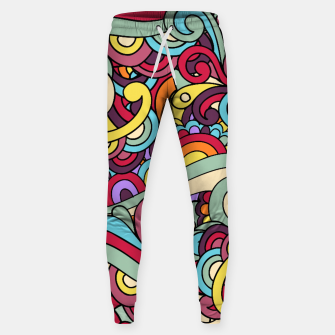 Thumbnail image of Colorful Hippie Swirl Pattern Sweatpants, Live Heroes