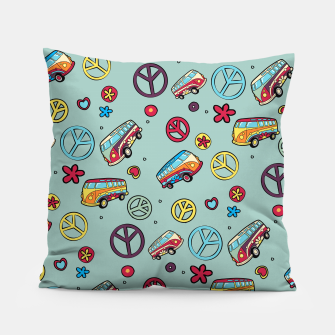 Retro  Hippie  Pattern  Pillow Bild der Miniatur