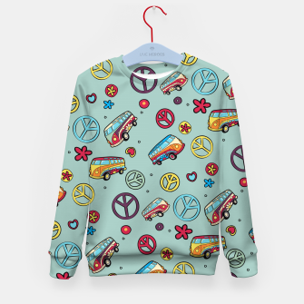 Retro  Hippie  Pattern  Kid's sweater imagen en miniatura