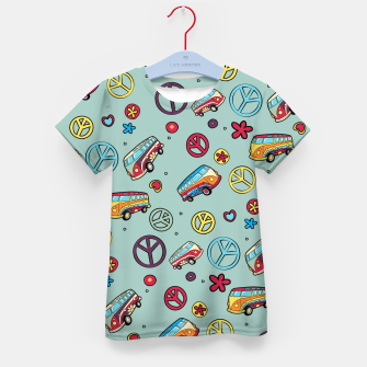 Retro  Hippie  Pattern  Kid's t-shirt Bild der Miniatur