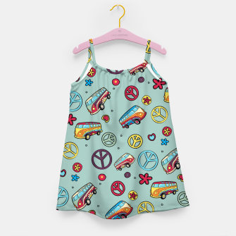 Retro  Hippie  Pattern  Girl's dress imagen en miniatura