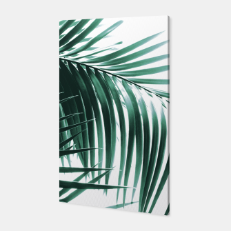 Thumbnail image of Palm Leaves Green Vibes #8 #tropical #decor #art Canvas, Live Heroes