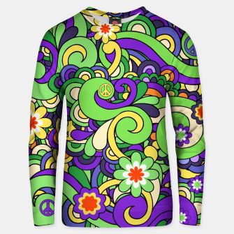 Thumbnail image of Colorful Hippie Swirl Pattern  Unisex sweater, Live Heroes