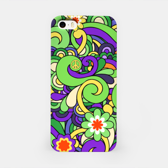 Thumbnail image of Colorful Hippie Swirl Pattern  iPhone Case, Live Heroes