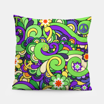 Thumbnail image of Colorful Hippie Swirl Pattern  Pillow, Live Heroes