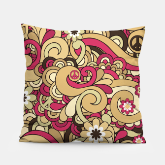 Thumbnail image of Vintage Hippie Swirl  Pillow, Live Heroes