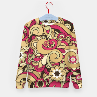 Thumbnail image of Vintage Hippie Swirl  Kid's sweater, Live Heroes