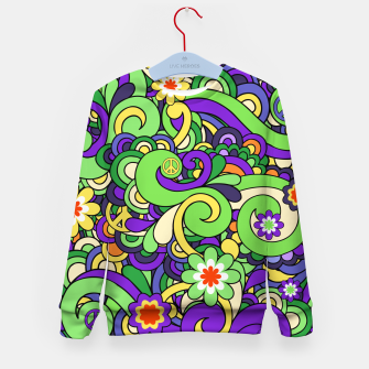 Thumbnail image of Colorful Hippie Swirl Pattern  Kid's sweater, Live Heroes