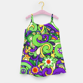 Thumbnail image of Colorful Hippie Swirl Pattern  Girl's dress, Live Heroes