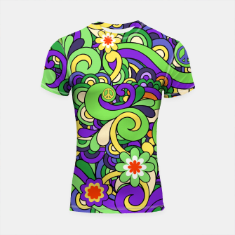 Thumbnail image of Colorful Hippie Swirl Pattern  Shortsleeve rashguard, Live Heroes