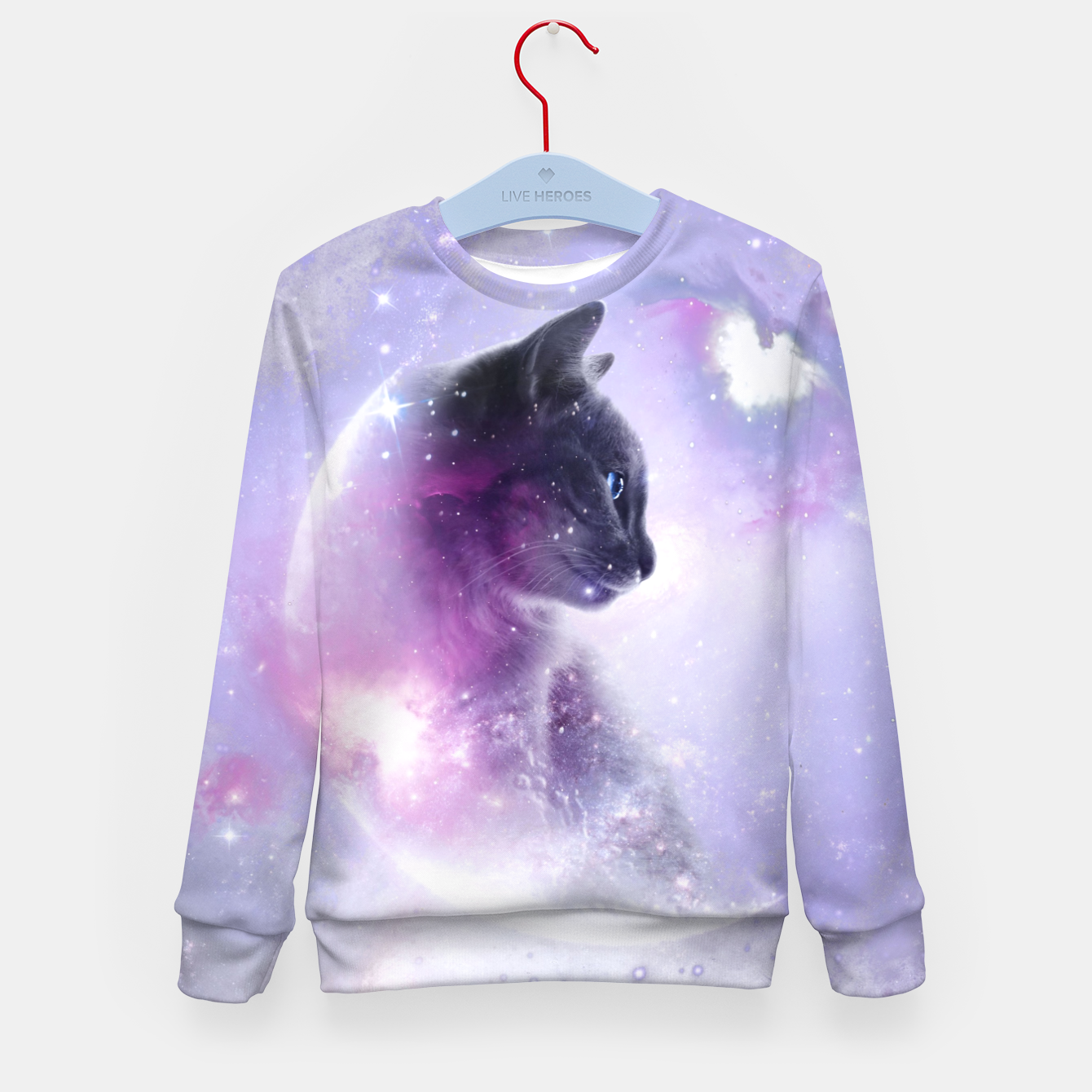 Image of Galaxy Cat Kindersweatshirt - Live Heroes