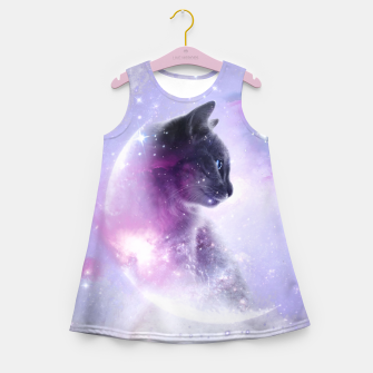 Thumbnail image of Galaxy Cat Mädchen-Sommerkleid, Live Heroes