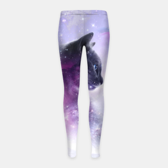 Galaxy Cat Kinder-Leggins thumbnail image