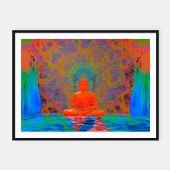 Thumbnail image of Cool Water Zen (Ultraviolet)  Framed poster, Live Heroes