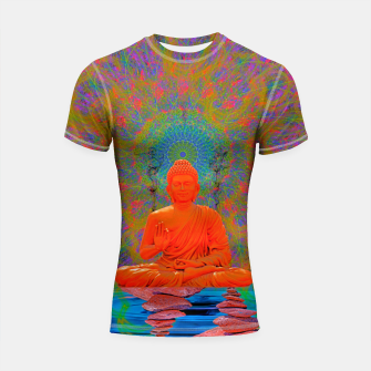 Thumbnail image of Cool Water Zen (Ultraviolet)  Shortsleeve rashguard, Live Heroes
