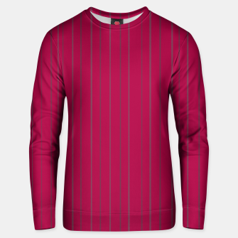 Thumbnail image of Grey stripes on magenta Unisex sweater, Live Heroes